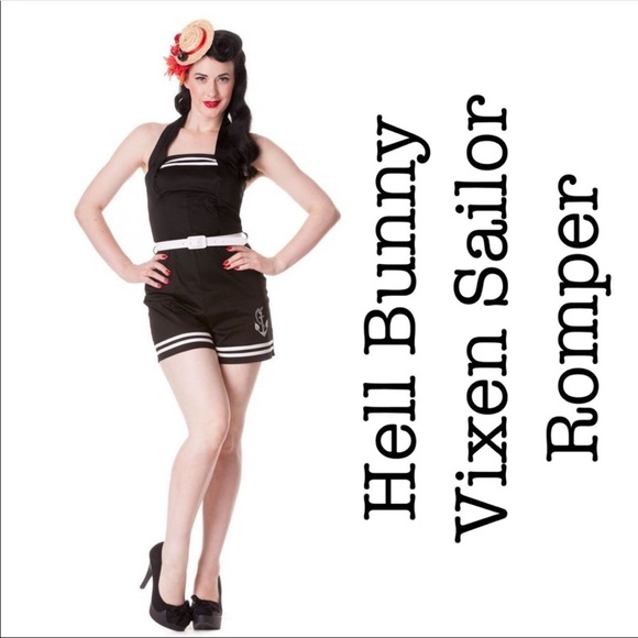 Hell Bunny Vixen Dresses & Skirts - Hell Bunny Vixen Sailor Romper